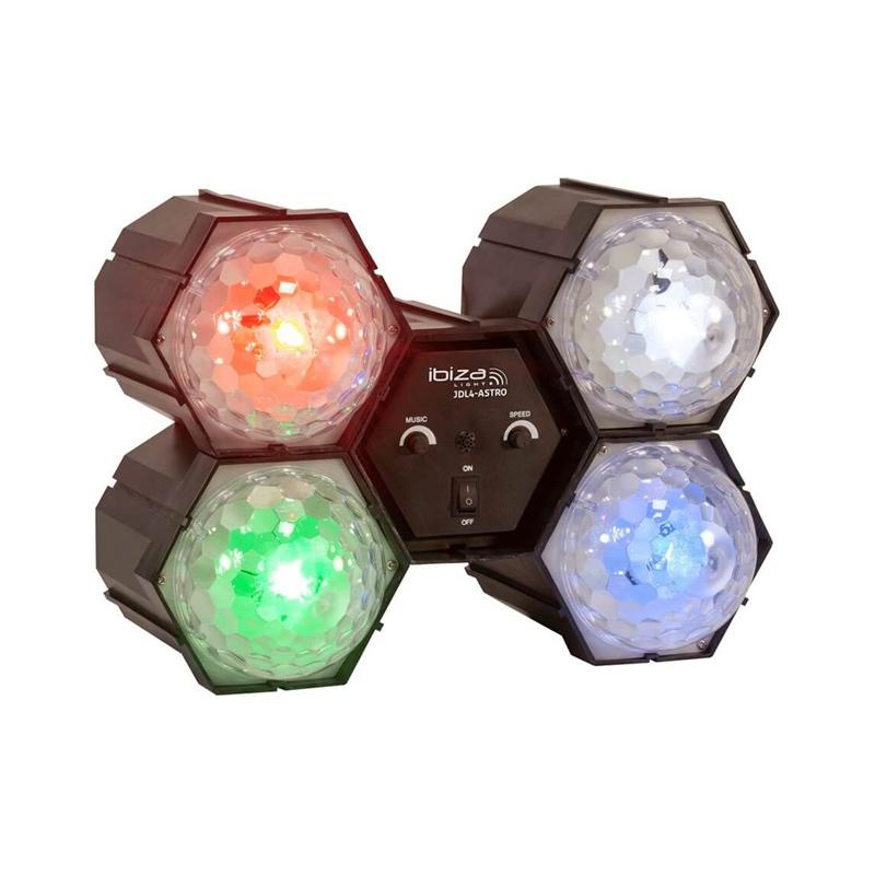 Lumini pentru petrecere Ibiza Running Light, 4 LED-uri RGBW, reglaj viteza 2021 shopu.ro