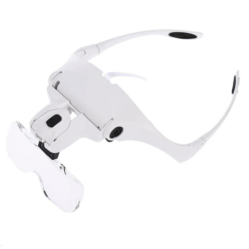 Lupa tip ochelari 9892B2, iluminare led, lentile interschimbabile 2021 shopu.ro