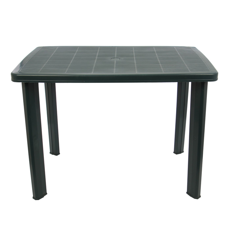 Masa dreptunghiulara pentru gradina, 100 x 70 x 72 cm, plastic, 6 persoane, Verde shopu.ro