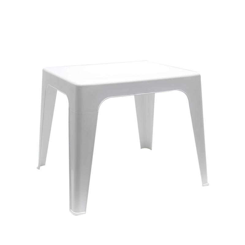 Masa patrata pentru gradina Dol, 50 x 42 x 45 cm, 2 persoane, plastic, Alb 2021 shopu.ro
