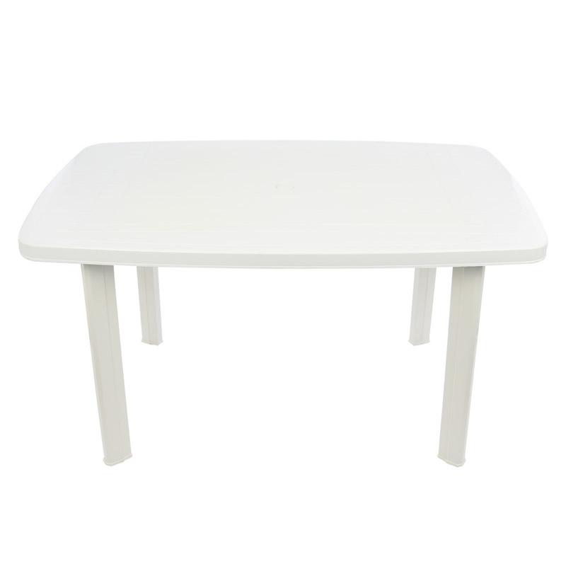 Masa pentru gradina Faro, plastic, dreptunghiulara, 8 persoane, 140 x 90 x 72 cm shopu.ro