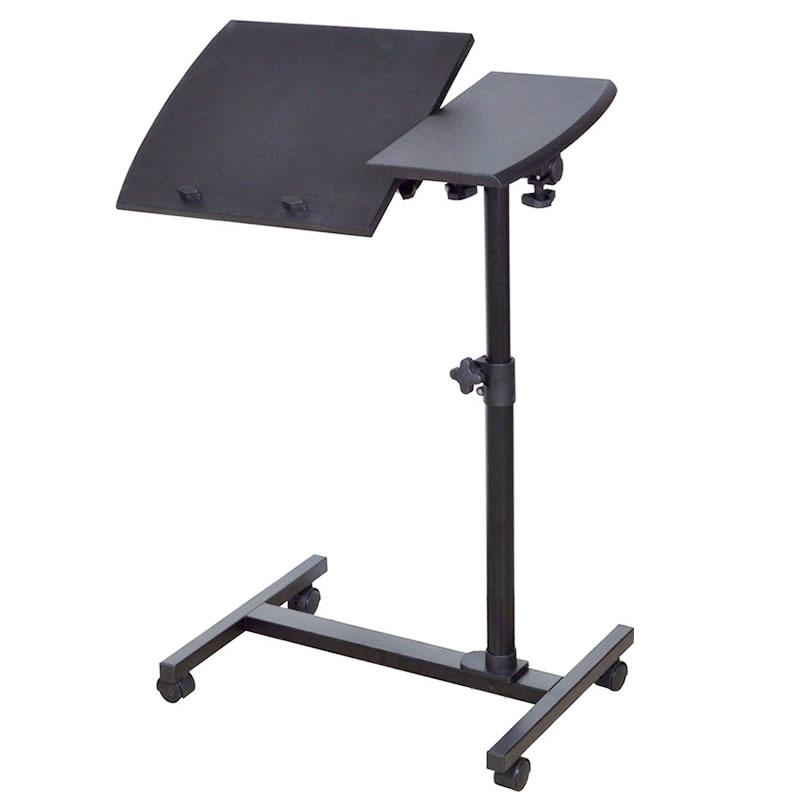 Masa pentru laptop cu roti Folding, latime 60 cm, inaltime reglabila, universala 2021 shopu.ro