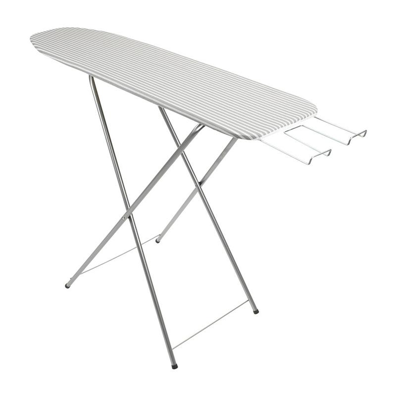 Masa de calcat, 30 x 110 x 86 cm, metal/pal, Gri/Alb shopu.ro