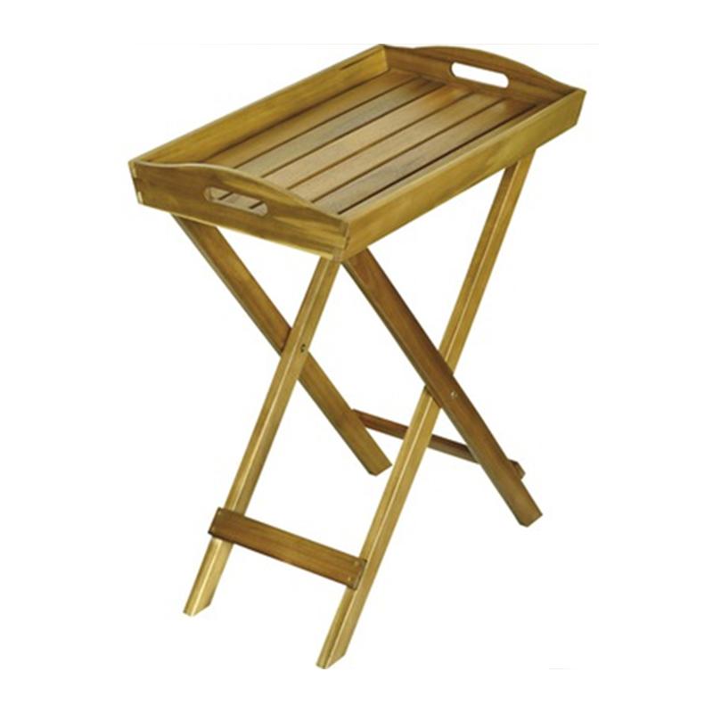 Masa pliabila pentru gradina, 60 x 36.5 cm, lemn, Maro 2021 shopu.ro