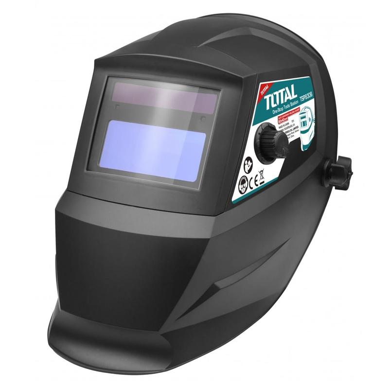 Masca automata pentru sudura Total, vizor 92 x 42 mm, filtru DIN, 2 x acumulator Lithium