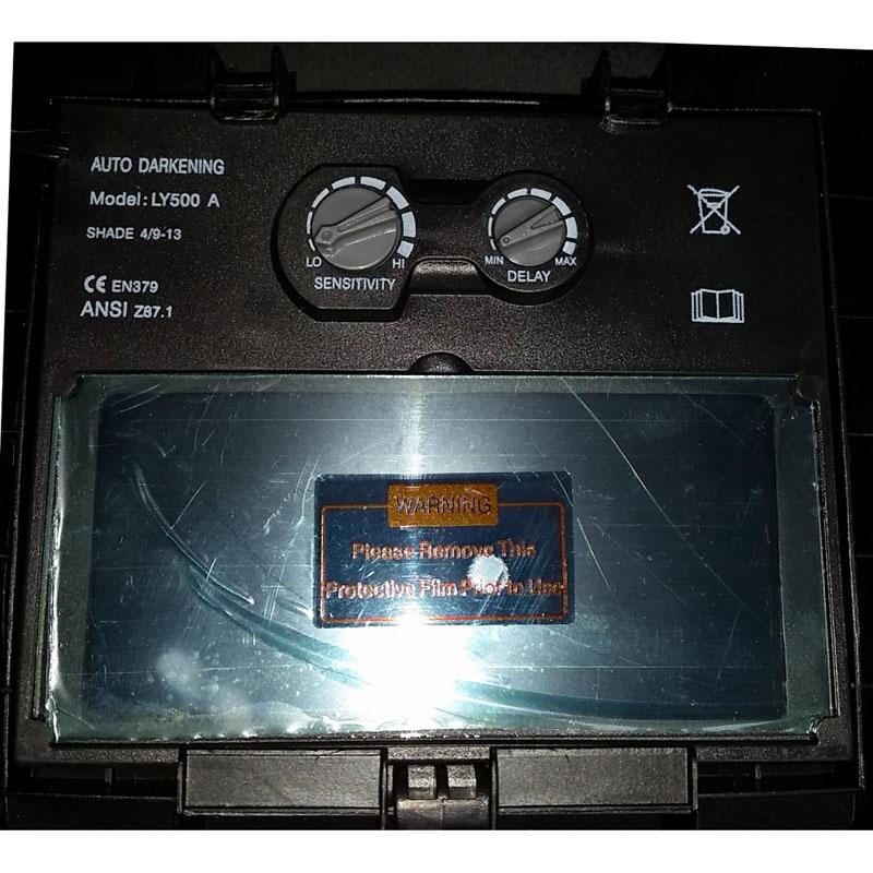 Masca de sudura ProWeld YLM 9532A, cristale lichide, LCD, reglare sensitivitate, baterie solara