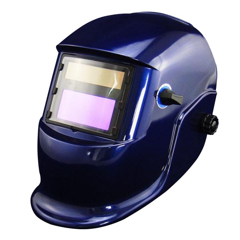 Masca de sudura cu cristale lichide 9-13 Intensiv, protectie UV/IR, DIN 16, vizor 92 x 42 mm, filtru cu autointunecare, Albastru shopu.ro