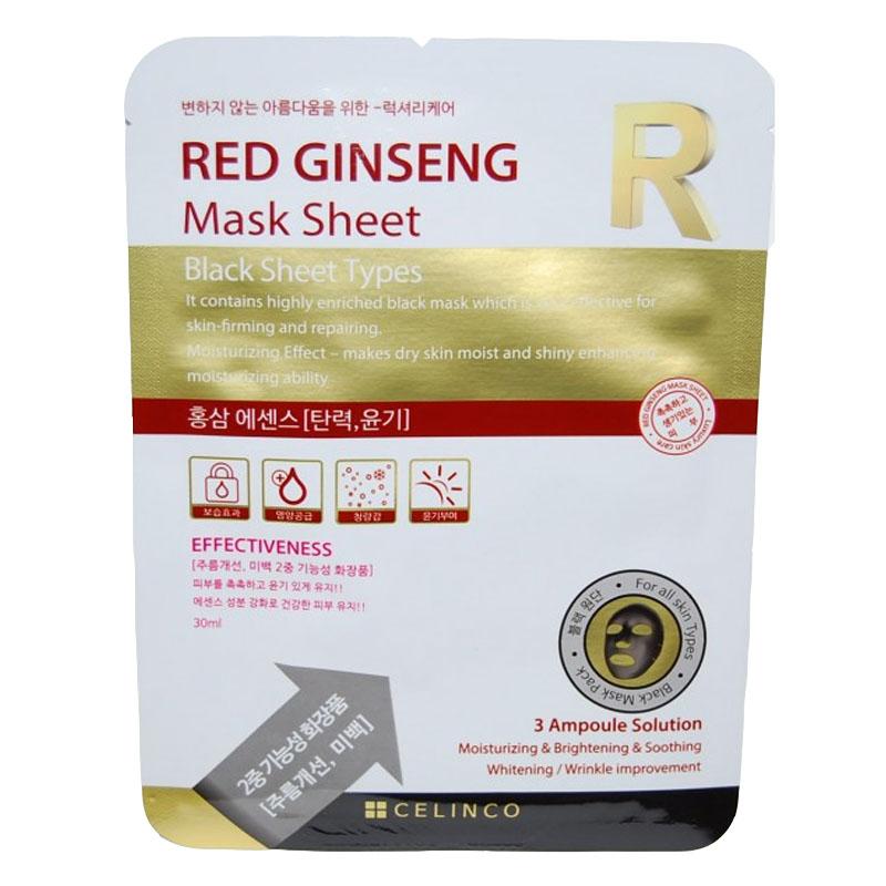 Masca faciala neagra Red Ginseng R Celinco, 30 ml 2021 shopu.ro