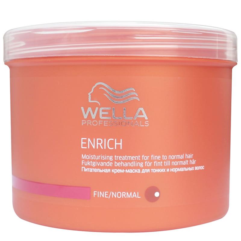 Masca pentru par Wella Enrich Normal, 500 ml