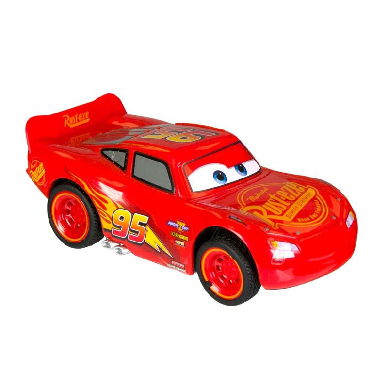 Masina Cars McQueen, scara 1:32, 13 x 70 cm, Rosu