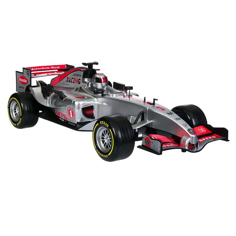 Masina Formula 1 Racing, sunete si lumini, argintiu
