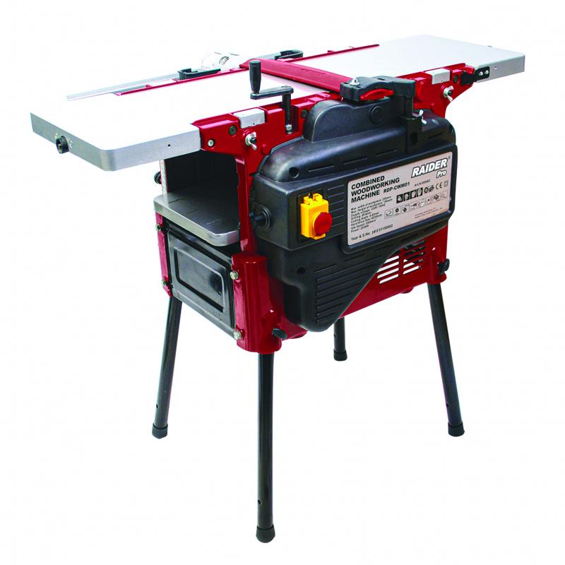 Masina combinata pentru tamplarie Raider RDP-CWM01, 2200 W, 250 mm, 2 cutite, 5500 rpm
