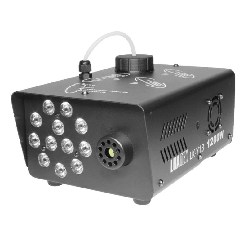 Masina de fum RGB Power, 1200 W, 12 x LED RGB, Negru 2021 shopu.ro