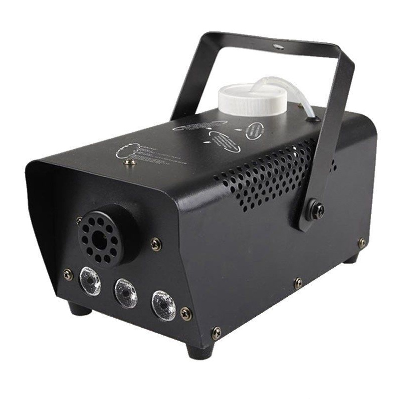 Masina de fum wireless, 600 W, 3 x LED, jocuri de lumini, Negru 2021 shopu.ro