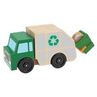 Masina de gunoi din lemn Melissa and Doug, 25 x 13 cm