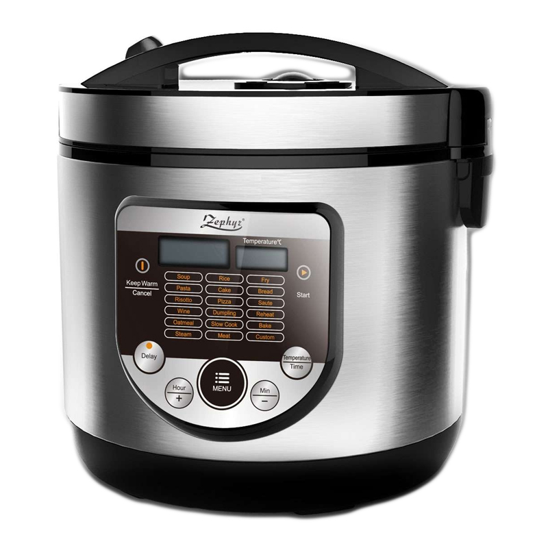 Multicooker electric 18 in 1 Zephyr, 700 W, ecran digital, Argintiu 2021 shopu.ro