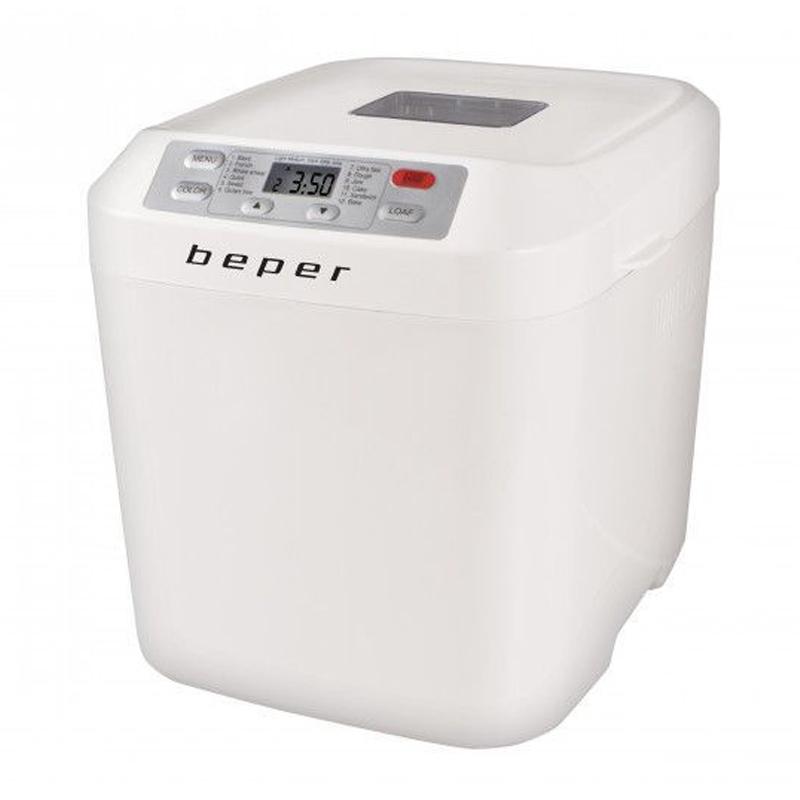 Masina de paine Beper, 550 W, LCD, 600-900 g, 12 programe, functie fara gluten 2021 shopu.ro