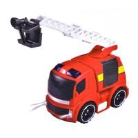 Masina de pompieri cu sunet si lumina, 18 x 12 x 14 cm