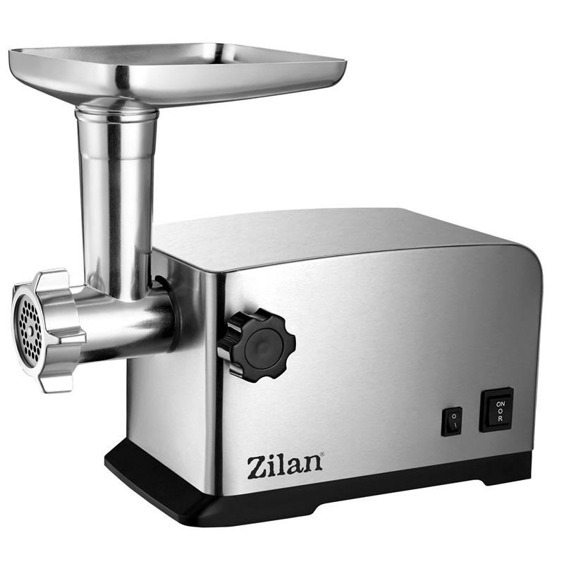 Masina tocat carne Zilan, 1800 W, functie revers, tava aluminiu, accesorii carnati