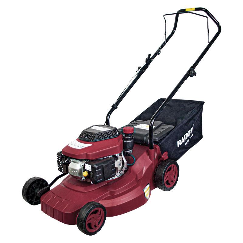 Masina de tuns iarba pe benzina Raider, 1.8 kW, 100 cc, 3600 rpm, 1500 ml, latime taiere 405 mm, cos 40 L 2021 shopu.ro