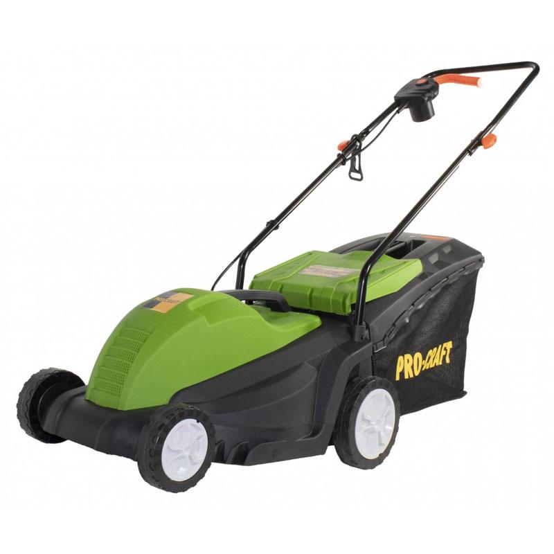 Masina electrica de tuns iarba ProCraft NM1800, 1800 W, 3500 rpm, 3 trepte, latime taiere 320 mm, cos 50 l 2021 shopu.ro