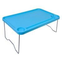 Masuta din plastic pentru plaja, 57 x 36 cm, Albastru