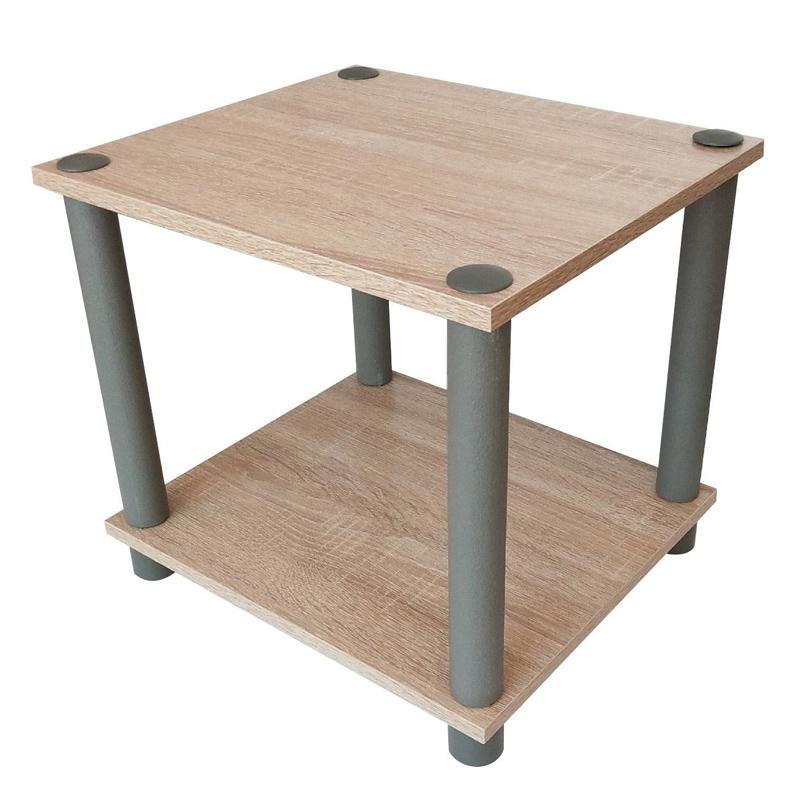 Masuta lemn, 34 x 30 x 31 cm, Crem/Gri 2021 shopu.ro