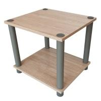 Masuta lemn, 34 x 30 x 31 cm, Crem/Gri