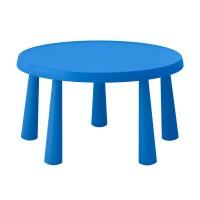 Masuta pentru camera copiilor, diametru 85 cm, Albastru