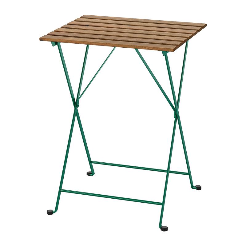 Masuta pliabila pentru balcon Barrel, 55 x 54 cm, lemn masiv, cadru verde shopu.ro