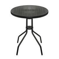 Masuta rotunda pentru exterior, 60 x 70 cm, Negru