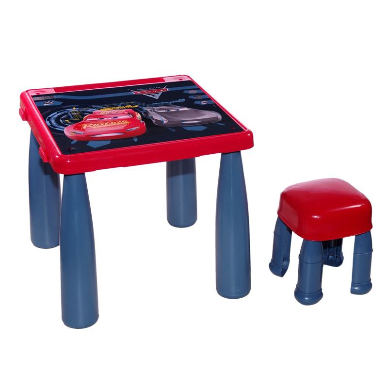 Masuta si scaun pentru copii, 43 x 39 cm, model Cars