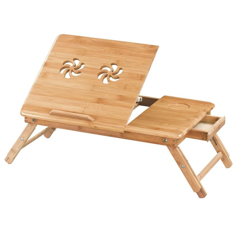 Masuta tip stand din lemn, 50 x 30 cm, 2 ventilatoare