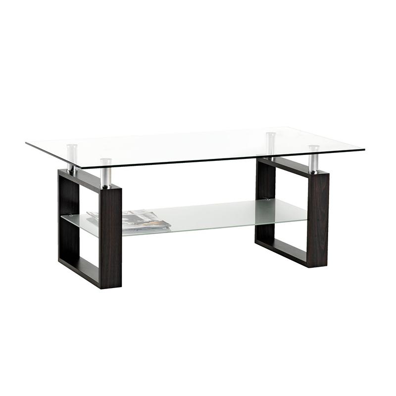 Masuta de colt, 60 x 110 x 45 cm, MDF/sticla, Argintiu/Negru 2021 shopu.ro