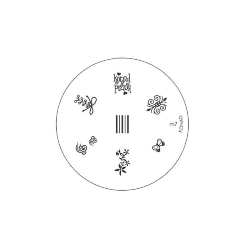 Matrita metalica pentru decorare unghii Konad M7, model mic 2021 shopu.ro