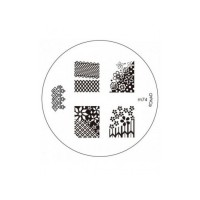 Matrita metalica pentru decorare unghii Konad M74, model mic