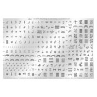 Matrita pentru unghii Konad Collection Demo Plate III