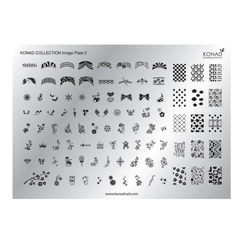 Matrita pentru unghii Konad Collection Image Plate 02 2021 shopu.ro