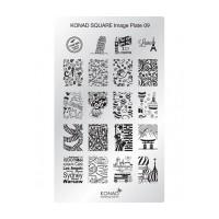 Matrita pentru unghii Konad Square Image Plate 09, Argintiu