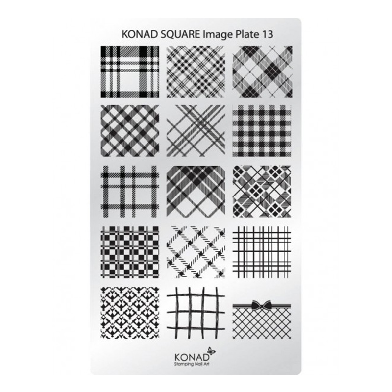 Matrita pentru unghii Konad Square Image Plate 13, Argintiu 2021 shopu.ro