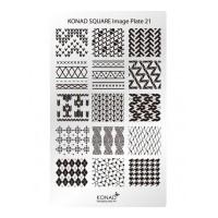 Matrita pentru unghii Konad Square Image Plate 21, Argintiu