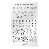 Matrita pentru unghii Konad Square Image Plate 23, Argintiu