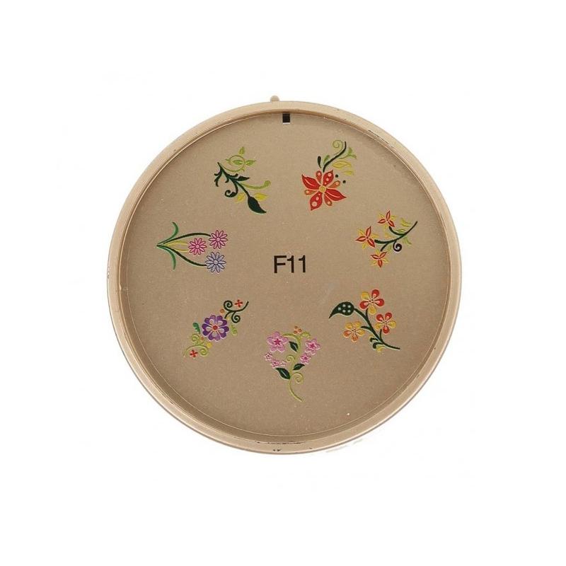 Matrita pentru unghii din silicon F11, model floral