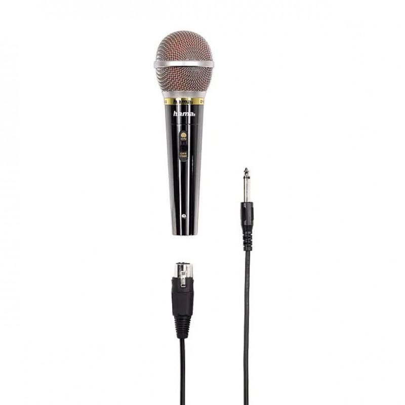 Microfon Dinamic Hama DM60, 600 ohm, lungim cablu 3 m, Negru 2021 shopu.ro