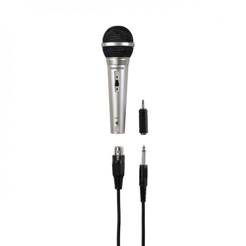 Microfon Dinamic Thomson M151, 500 ohm, lungime cablu 3 m, Argintiu 2021 shopu.ro