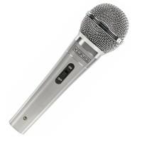 Microfon cu fir Konig, cablu 5 m, 60-14000Hz, jack 6.35 mm, argintiu