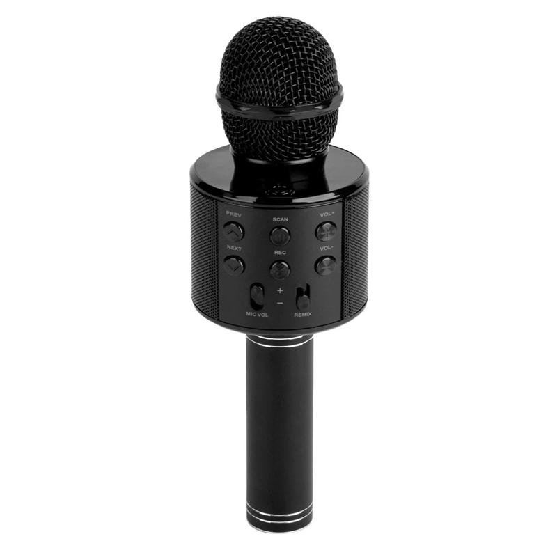 Microfon karaoke fara fir i-JMB, port USB, card TF, acumulator 1200 mAh