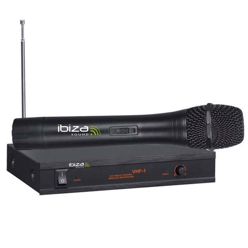 Microfon wireless IBIZA VHF1A, frecventa 207.5MHZ 2021 shopu.ro
