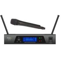 Microfon wireless Ibiza UHF10A, frecventa 863.9MHZ, receptor cu afisaj LCD