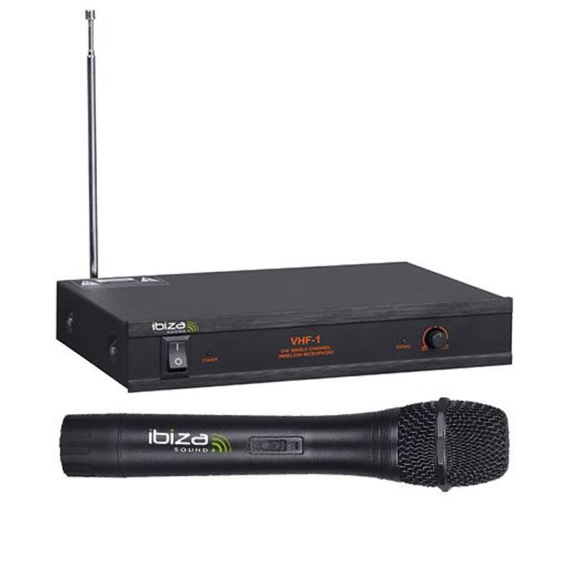 Microfon wireless Ibiza VHF1B, frecventa 203.5MHZ, putere 10 mW 2021 shopu.ro